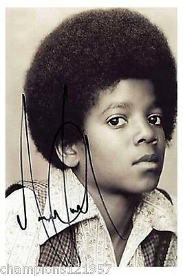 Michael Jackson ++Autogramm++ ++POP Legende ++2
