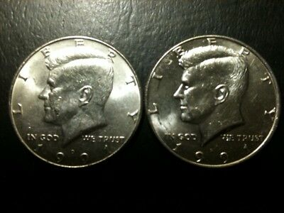 1991 P&D Kennedy Half Dollar Set AU/BU Clad no Silver 50 Cent About UNC MS Mint