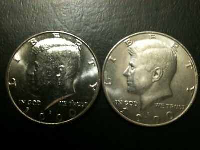 1990 P&D Kennedy Half Dollar Set AU/BU Clad no Silver 50 Cent About UNC MS Mint