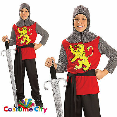 Childs Boys Medieval Lord Knight World Book Day Fancy Dress Party Costume