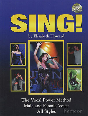 Sing by Elisabeth Howard Vocal Power Method Music Book & 4CDs