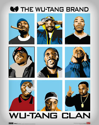 Authentic WU TAN CLAN Band Collage POSTER 22 x 34 NEW