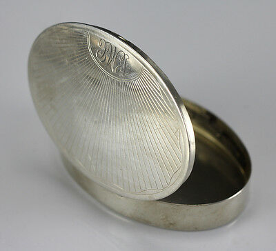 Elizabeth Arden Sterling Silver Oval Compact