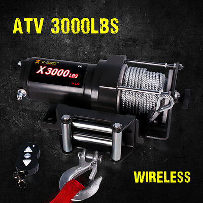 12V Wireless 3000LBS / 1361KGS Electric Winch for ATV 4WD BOAT
