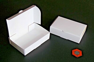 50 ~~ Small Business Card Boxes ~~ White or Recycled card
