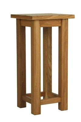 Small Solid Oak Side Table Slim Occasional/Coffee/Lamp/End/Console Stand/Bedside