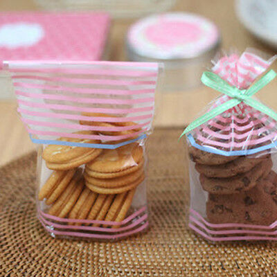 lovely stripes food gift treat cellophane cello bags + twist ties party