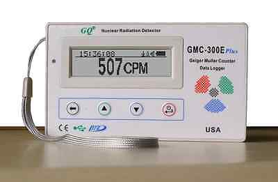 New GQ GMC-300E Plus Nuclear Radiation Detector Data logger Beta Gamma detection