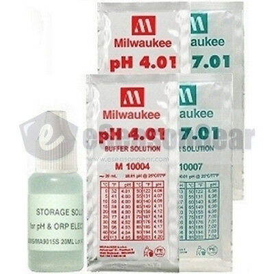 5x20ml, Storage + pH 4 + 4 + 7 + 7 Buffer Solution for pH Meter Calibration