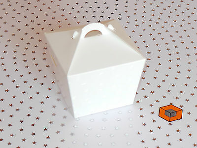 Single White individual MUFFIN cake boxes ~~~ with INSERTS ~~~ 10 or more