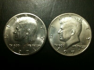 1971 P&D Kennedy Half Dollar Set AU/BU Clad no Silver 50 Cent About UNC MS Mint
