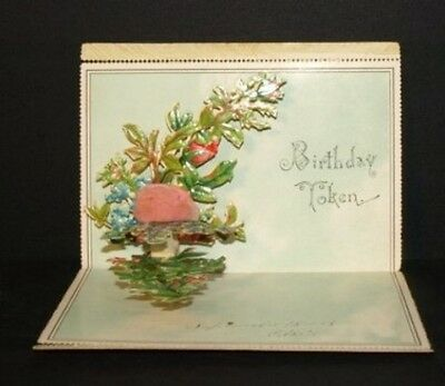 [42846] 1908 BIRTHDAY CARD with DIE CUT FOLD-OUT - FRAGILE