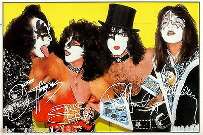 Kiss ++Autogramme++ ++POP Legende 70er Jahre++