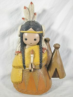 Vintage HOMCO Hubbell Native American Maiden Wall Art #1953 - Burwood Industries