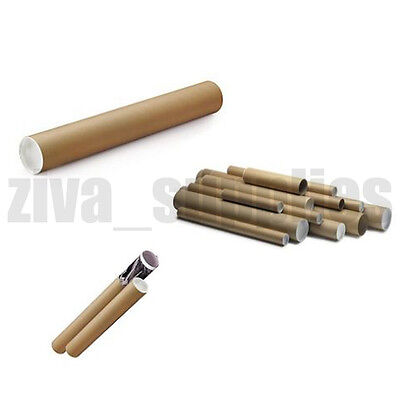 【POSTAL TUBES】Strong Cardboard Tube & Plastic End Caps for Posters,Vinyl,Tough