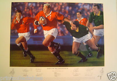 Dawn of the Millennium Welsh Rugby Signed Print by Simon Smith