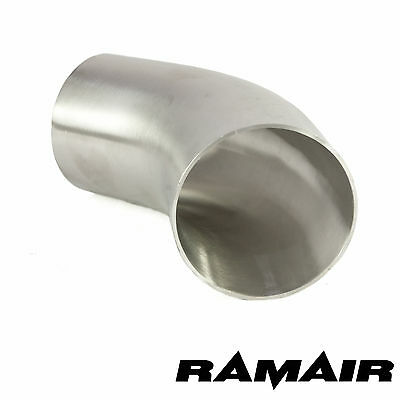 "Ramair 2.5"" Inch 63.5mm 45 Degree Mandrel Exhaust Bend 316 Stainless Steel"