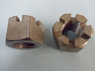 M30 SLOTTED ( CASTLE ) NUTS, BRIGHT ZINC PLATED, X 2 No.