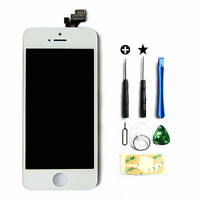 New LCD Lens Touch Screen Display Glass Assembly Replacement for iPhone 5 white