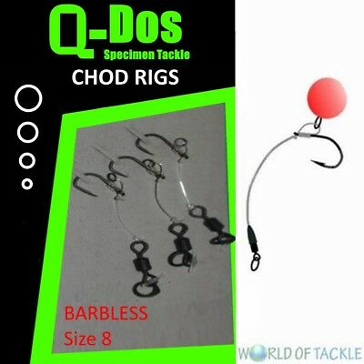Chod Rigs Carp Fishing Ready Tied X 3 Choddy Rig Barbed or Barbless Free Post