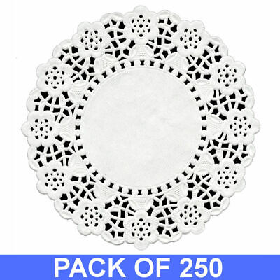 "250 White Round Paper Doyleys 5.5"" RD-55 Doylies Doilies Lace Wedding 140mm"