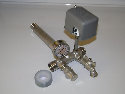 """STAINLESS 1""""x11"""" TANK TEE KIT WATER WELL PRESSURE TANK PUMP 4060 SQUARE D SWITCH"""
