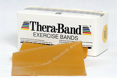 TheraBand Übungsband 2,5 m max. stark Gold Original Thera-Band NEU