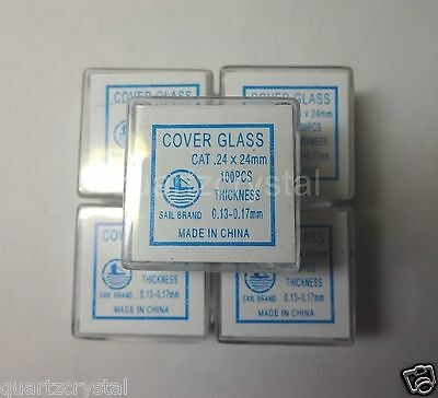 500 pcs Microscope Cover Glass, Cover Slips, 24*24 mm