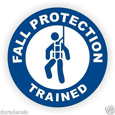 Fall Protection Trained Hard Hat Decal // Helmet Sticker Safety Harness Scaffold
