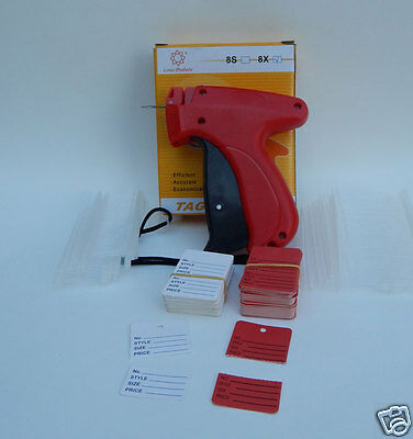 FINE CLOTHING PRICE TAGGING GUN W/ 2 TAG NEEDLES +1000 barbs + 100 Price Labels