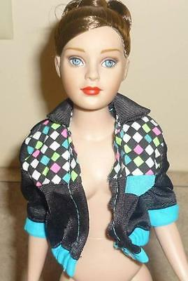 Black Jacket w/Colored Diamond-Shaped Accents for Tiny Kitty Doll