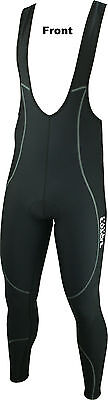 CLEARANCE: Coolmax Padded Zipless Cycle/Cycling Full Bib Tights/Leggings S to XL