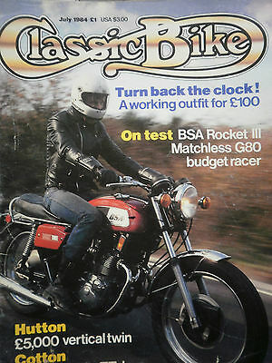 1972 BSA ROCKET III classic test 3 pages + COLOUR CENTREFOLD + COVER - CB.07/84