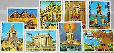 CONGO KONGO BRAZZAVILLE 1978 637-44 U 460-7 7 Wonder of Ancient World Weltwunder