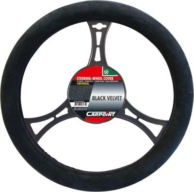 Black Suede Velvet Steering Wheel Cover Soft And Superb Grip