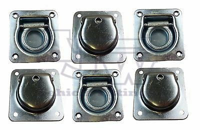 6 X Recessed Flush Fit Lashing Ring Cargo Tie Down Anchor Truck Trailer Horsebox