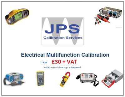 Calibration of Electrical Multifunction Metrel Megger Fluke Kewtech Testers