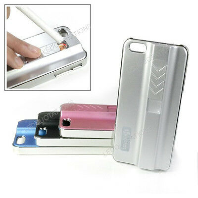 New USB Rechargeable Electronic Cigarette Lighter Case Back Cover Fo iPhone 5 5S