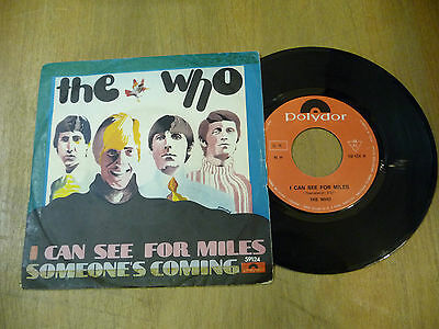 "THE WHO""I CAN SEE FOR MILES-disco 45 giri POLYDOR Italy 1967"