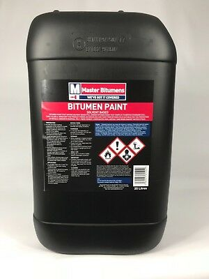 "25L  Litre Black Bitumen Paint Waterproof Weatherproof Paint ""free Delivery"""