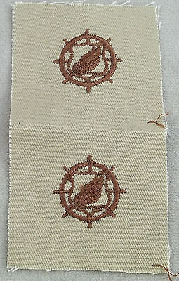 US Army Transportation Corps DCU - Desert Tan Cloth Branch Insignia - New Pair