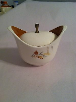 Taylor Smith Taylor TST Sugar Bow with Lid  Autumn Harvest Ever Yours Wheat
