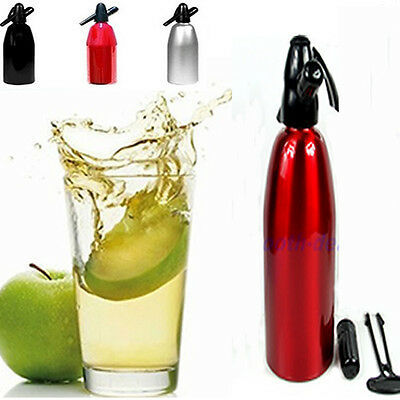 Aluminum 1000ML Soda Syphon Siphon Maker Bar Home Seltzer Brew Make Tool New