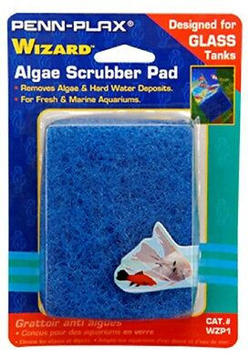 Penn Plax Wizard Algae Scrubber Pad Scraper  for GLASS Aquariums