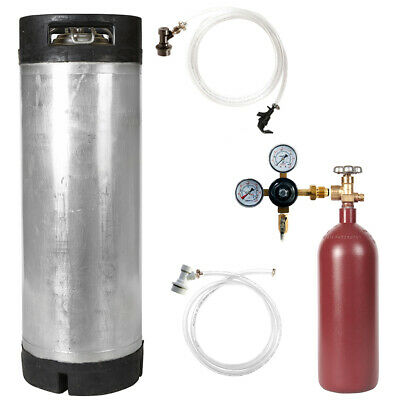 Nitrogen Keg Kit: 5 Gal Ball Lock Used Keg, 20 cu. ft. Nitrogen Tank & Regulator