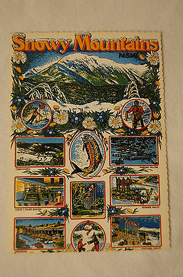 N.S.W. - Snowy Mountains - Retro - Postcard.