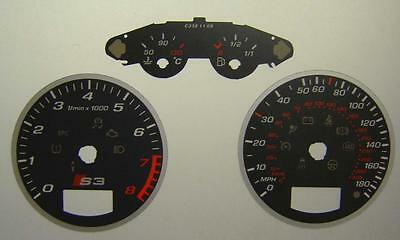 Lockwood Audi S3 DARK GREY Dial Conversion Kit C338