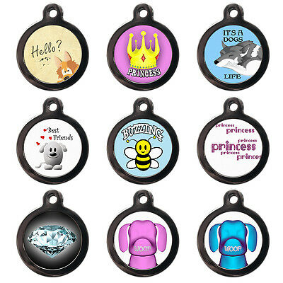 Cute Pet ID Tags - Princess - Dog Cat ID Disc - Personalised-Custom Pet ID Tags