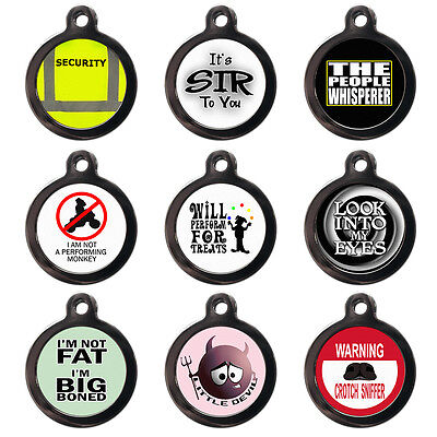 Funny Pet Dog Cat Name ID Tags For Collar - Engraved FREE - Cute Pet Tags