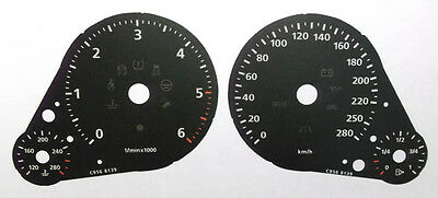Lockwood VW Touareg 2011- Diesel KMH BLACK Dial Conversion Kit C956